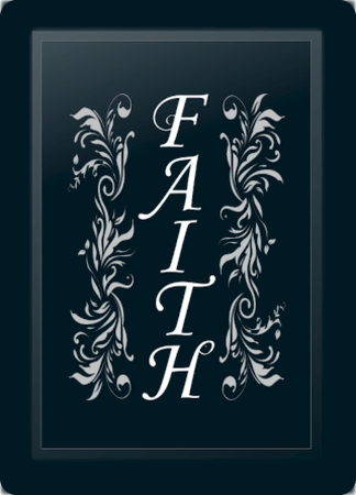 Faith Floral Vertical Silver