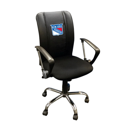 Curve Task Chair with New York Rangers Logo