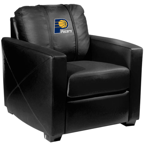 Silver Club Chair Indiana Pacers Logo