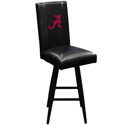 Swivel Bar Stool 2000 with Alabama Crimson Tide Red A Logo