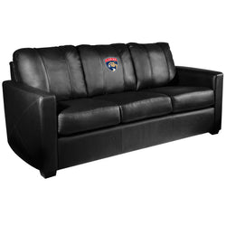 Silver Sofa with Florida Panthers Logo