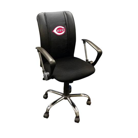 Curve Task Chair with Cincinnati Reds Logo