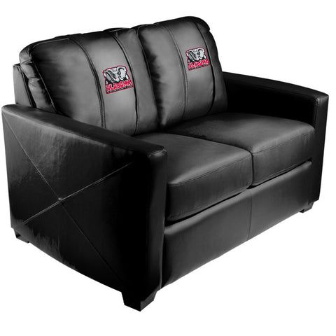 Silver Loveseat with Alabama Crimson Tide Elephant Logo