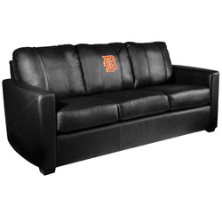 Silver Sofa with Detroit Tigers Orange Logo