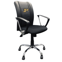 Curve Task Chair with Purdue Boilermakers Logo
