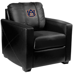 Silver Club Chair with Auburn Tigers Logo