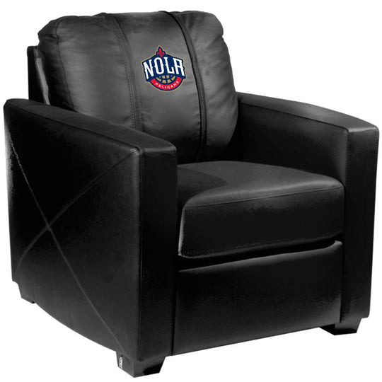 Silver Club Chair with New Orleans Pelicans NOLA
