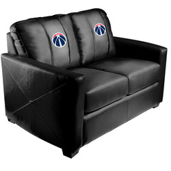 Silver Loveseat with Washington Wizards Primary Logo