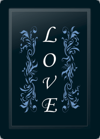 Love Floral Vertical Blue