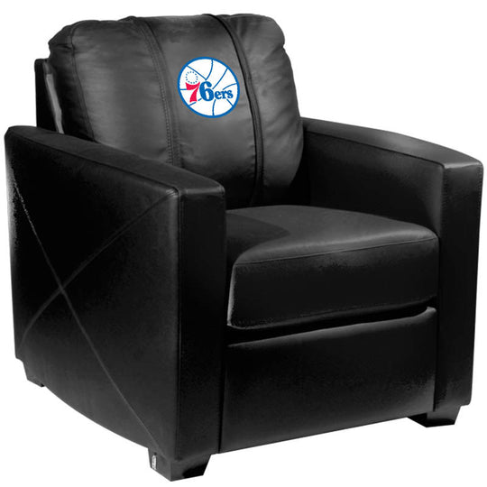 Silver Club Chair with Philadelphia 76ers Primary