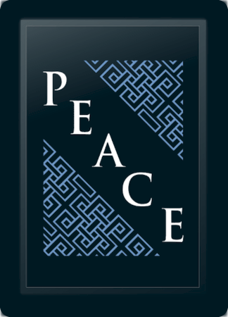 Peace Deco Diagonal Blue