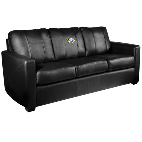 Silver Sofa with Nashville Predators Logo