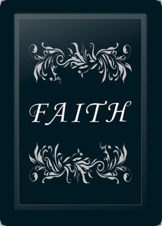 Faith Floral Horizontal Silver
