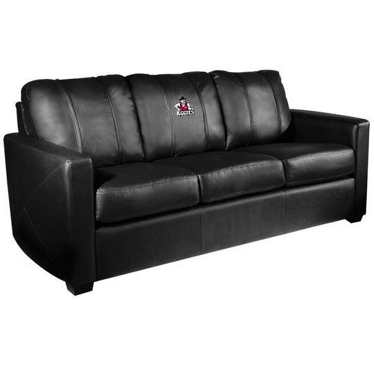 Silver Sofa with New Mexico State Aggies Logo