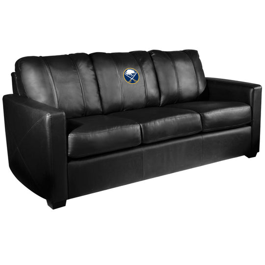 Silver Sofa with Buffalo Sabres Logo