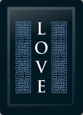 Love Deco Vertical Blue