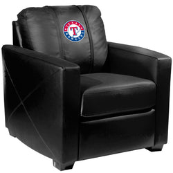 Silver Club Chair with Texas Rangers Logo