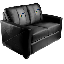 Silver Loveseat with Utah Jazz Primary Logo