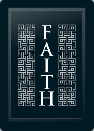 Faith Deco Vertical Silver