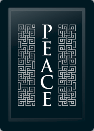 Peace Deco Vertical Silver