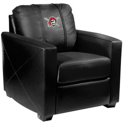 Silver Club Chair with Pittsburgh Pirates Logo