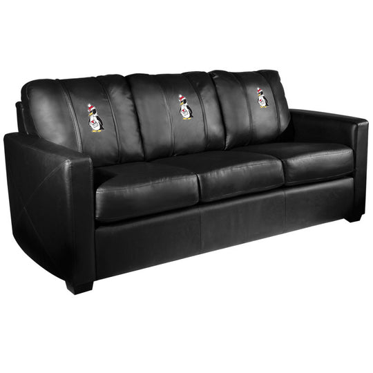 Silver Sofa with Youngstown State Penguins Logo