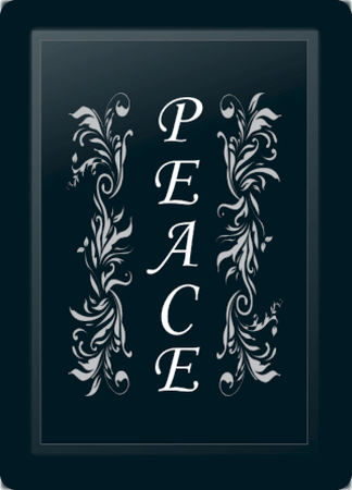 Peace Floral Vertical Silver