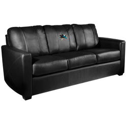Silver Sofa with San Jose Sharks Logo