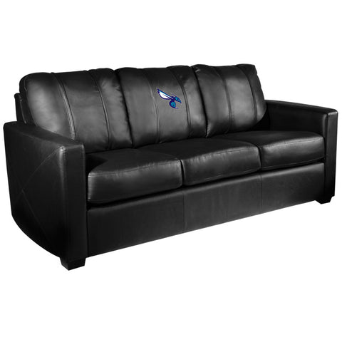 Silver Sofa with Charlotte Hornets Secondary