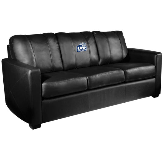 Silver Sofa with New Hampshire Wildcats Logo