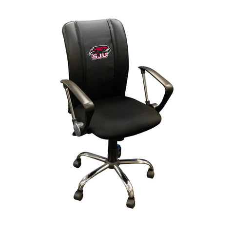 Curve Task Chair with St Josephs Hawks Logo