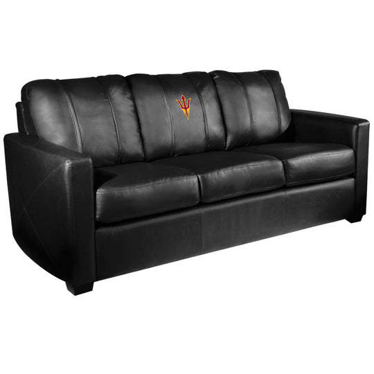 Silver Sofa with Arizona State Sundevils Logo