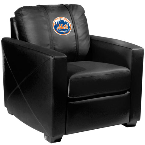 Silver Club Chair with New York Mets Logo