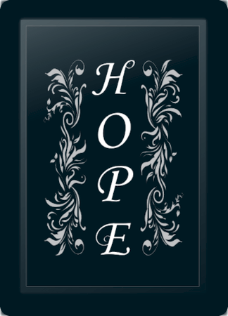 Hope Floral Vertical Silver