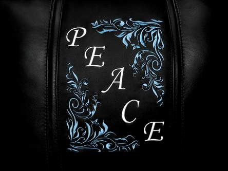 Peace Floral Diagonal Blue