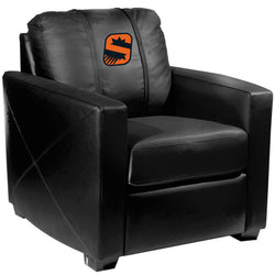 Silver Club Chair with Phoenix Suns S