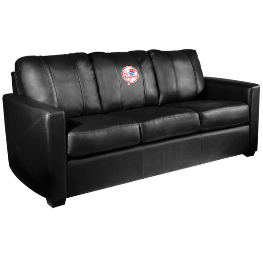 Silver Sofa with New York Yankees Secondary