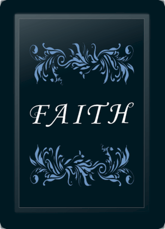 Faith Floral Horizontal Blue