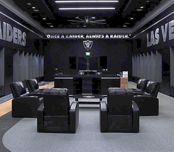 Relax Recliner with  Las Vegas Raiders Primary Logo