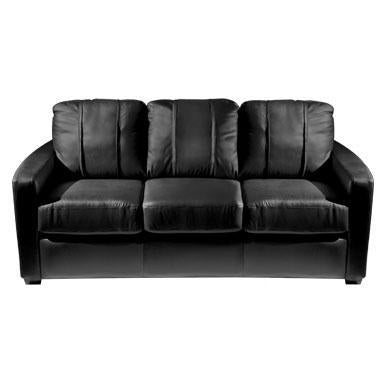 Silver Sofa with TCU Horned Frogs Secondary