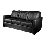 Silver Sofa with Boston Red Sox Champs 2013