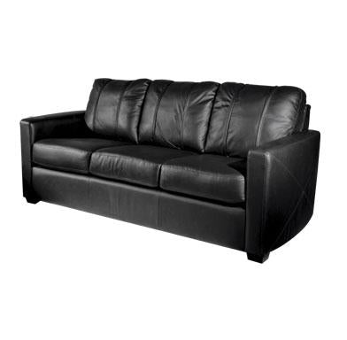 Silver Sofa with Wichita State Primary Logo
