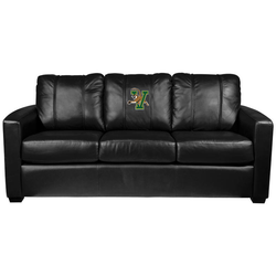 Silver Sofa with Vermont Catamounts Logo