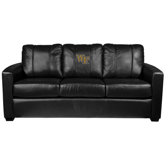 Silver Sofa with Wake Forest Demon Deacons Logo
