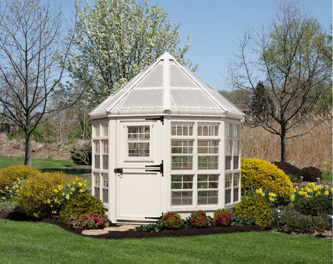 Little Cottage Company Octagon Artisan Greenhouse 8x8 - Green Thumb Houses