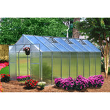 Monticello Mojave Greenhouse Silver Mont-12-AL-MOJAVE 8x12, 8x16, 8x20, 8x24 - Green Thumb Houses