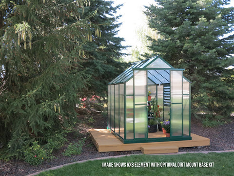 Grandio Element Greenhouse ELEMENT-612-PR 6x12 Premium Kit - Green Thumb Houses