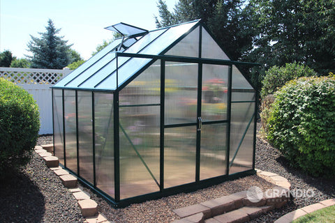 Grandio Ascent Greenhouse ASCENT-8-PR, 8x8, Premium Kit - Green Thumb Houses