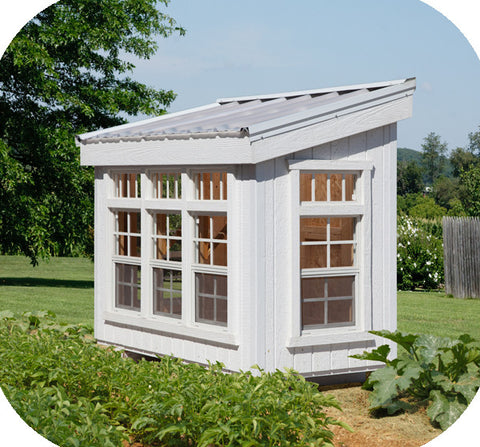 Little Cottage Company Petite Artisan Greenhouse - Green Thumb Houses