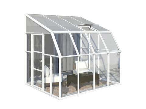 Rion Sun Room 2 Lean To Greenhouse HG7608 8x8, 8x10, 8x12, 8x14 - Green Thumb Houses